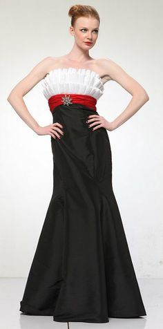Red black- Satin and Prom gowns on Pinterest