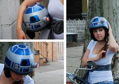 Protect Your Geeky Head with an R2-D2 Helmet.  Star Wars products always make me laugh; Ben would LOVE this!