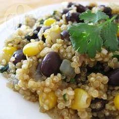 Photo recette : Quinoa aux haricots noirs et au cumin