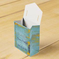Cool Grunge Blue Wash Graduation Favor Bags Party Favor Boxes