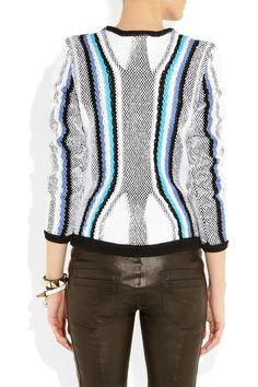 Peter Pilotto|Contrast-knit cotton sweater|NET-A-PORTER.COM