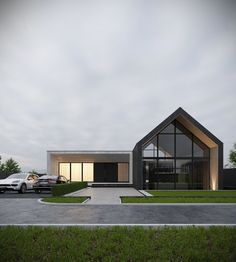 Modern house exterior - Showcase and discover the latest work from top online portfolios by creative professionals across industries Modern Barn House, Modern House Design, Exterior Tradicional, Design Exterior, Latest House Designs, Dream House Exterior, Facade House, Home Fashion, Future House