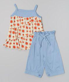 Love this Orange Sunburst Tiered Organic Tank & Shorts - Infant & Toddler by Origany on #zulily! #zulilyfinds