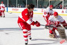 Brendan Shanahan and Kenny Holland, 2013 Hockeytown Winter Festival - Red Wings Alumni Practice, 12/30/2013