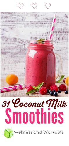 New fruit smoothies healthy for weight loss coconut milk Ideas Healthy Fruit Smoothies, Fruit Smoothie Recipes, Healthy Diet Recipes, Healthy Drinks, Milk Smoothies, Drink Recipes, Baby Recipes, Healthy Shakes, Fruit Drinks