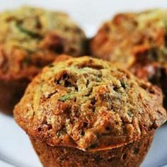 Zucchini bread muffins with shredded zucchini, walnuts, dried cranberries, spiced with vanilla, cinnamon and nutmeg. Simply Recipes, Great Recipes, Favorite Recipes, Zucchini Banana, Shredded Zucchini, Zucchini Bread, Banana Nut, Zucchini Parmesan, Zucchini Breakfast