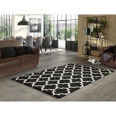 Trellis, Contemporary, Rugs, Design, Romance, Home Decor, Dark, Products, Black N White