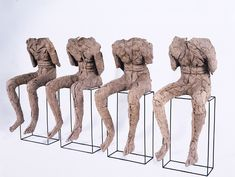 Magdalena Abakanowicz, 4 Seated Figures, 2002 | National Museum of Women in the Arts