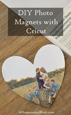 DIY Photo Magnets tutorial made with the Cricut Explore Air. Gift idea for Mother's Day, Christmas, and more!