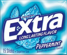 Image result for extra peppermint gum