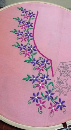 Hand Embroidery and Its Types - Embroidery Patterns Hand Embroidery Videos, Embroidery Stitches Tutorial, Hand Work Embroidery, Embroidery Flowers Pattern, Flower Embroidery Designs, Simple Embroidery, Creative Embroidery, Embroidery Patterns Free, Hand Embroidery Patterns