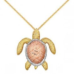 Sea Turtle Jewelry and Turtle Jewelry 14k Gold Rope Chain, Rose Gold Chain, Sea Turtle Jewelry, Turtle Necklace, Sea Turtle Gifts, Beach Jewelry, Jewelry Collection, Yellow, Pendant