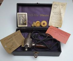 Antique Vintage STAR-RITE Vibrator + Warranty, Instructions, Attachments, Case #FitzgeraldMfg