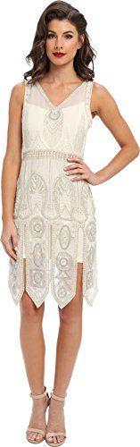 """Unique Vintage Women's """"The Frannie"""" Art Deco Flapper Dress White/Silver Dress 2XL (US 14-16) Unique Vintage http://www.amazon.com/dp/B00ISQWSKS/ref=cm_sw_r_pi_dp_EADEwb1QX91ZV"""