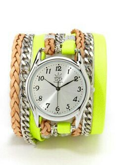 Watch with Leather and Chains