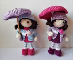 """Autumn Dolls - Free Amigurumi English PDF Pattern ( click """"Autumn Girls"""" in blue letters at the end of the post) ☂ᙓᖇᗴᔕᗩ ᖇᙓᔕ☂ᙓᘐᘎᓮ http://www.pinterest.com/teretegui"""