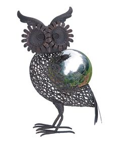 Loving this Owl Gazing Ball Figurine on #zulily! #zulilyfinds