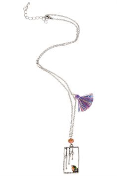 Tiger Tree Bird And Tassel Short Necklace - Womens Necklaces - Birdsnest Buy Online