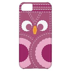 Colorful Girly Purple Stitched Owl iPhone 5c Case