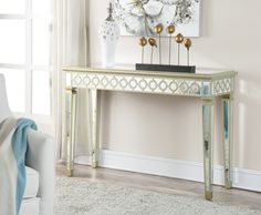 Antique Console Table Design ideas collection old antique narrow mirrored console table with high kryntvg - Furnish Ideas Mirrored Sofa Table, Antique Console Table, Narrow Console Table, Mirrored Furniture, Table Furniture, Home Furniture, Mirrored Vanity, Furniture Online, Furniture Ideas