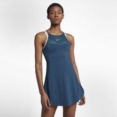 Nike Court Maria Women's Tennis Dress - S Blue Tennis Wear, Tennis Dress, Tennis Clothes, Tennis Players, Sport Wear, Workout Wear, Fashion Dresses, High Neck Dress, Clothes For Women