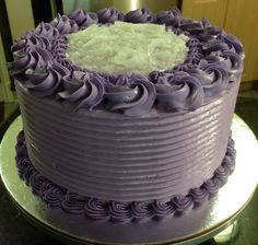 Another purple yum buttercream cake