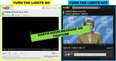 Lights Out by YouTube team. I really appreciate the concept of adding a switch on their page to elicit awareness for #EarthHour