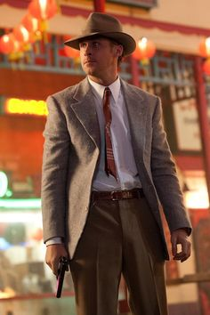 Yes Please!...Ryan Gosling's Gangster Squad Fedora Is 2013's Scorpion Jacket