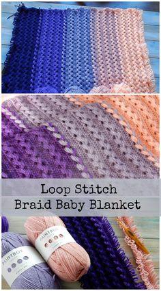 Loop Stitch Braid Baby Blanket