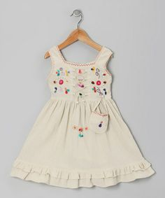 Take a look at this Natural Lily Dress - Toddler & Girls by Little Cotton Dress on #zulily today!
