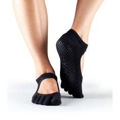 Yoga, pilates sokken Bella Anti-slip teensokken van ToeSox - zwart
