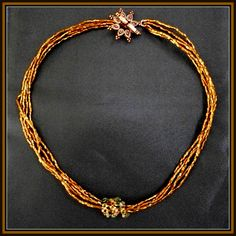 beaded copper necklace