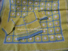 Magia do Crochet: Colcha e casaco em crochet para bebé