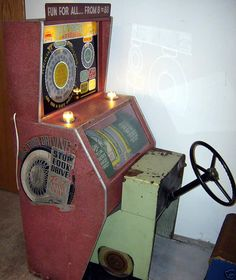 1954 Mutoscope Drive Yourself Road Test (Drivemobile) coin operated driving arcade game drive mobile