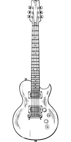 This is best Guitar Outline Musical Instrument Electric Guitar Outline Vector Free Psd for your project or presentation to use for personal or commersial. Guitar Sketch, Guitar Drawing, Guitar Art, Cool Guitar, Music Drawings, Pencil Art Drawings, Drawing Sketches, Music Tattoo Designs, Music Tattoos