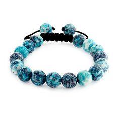 50febf9f89d91d Bling Jewelry Gemstone Bead Triple Stretch Bracelet 7in