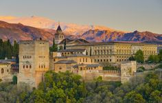 size: Photographic Print: Spain, Andalucia, Granada Province, Granada, Alhambra Palace and Sierra Nevada Mountains by Alan Copson : Artists World's Most Beautiful, Beautiful Places, Wonderful Places, Grenada Spain, Alhambra Spain, Prague Castle, Andalusia, Andalucia Spain, Sierra Nevada