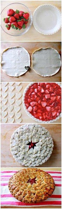 Pay de fresas San Valentin