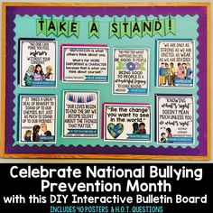 Celebrate National Bullying Prevention Month: DIY Interactive Bulletin Board for Middle and High School Students