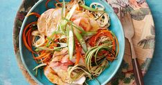 Noodle salad gets an Asian-inspired twist with this miso-glazed chicken. Bring out the barbecue for this dish and cover the whole thing in honey and fresh lime juice.