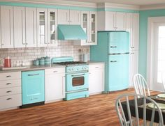 Blue Turquoise White Kitchen Decoration