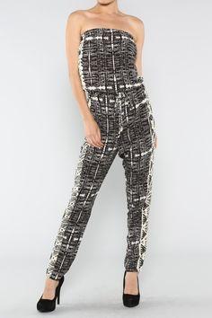 Tribal Print Jumpsuit #jumpsuit #summer #love #wholesale #fashion