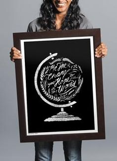 """Sevenly """"Be the change"""" print"""