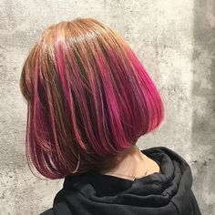 WEBSTA @ aki__pero - 𖨠完成〜〜♡ӵᵉ੨ᑋ✧加工なし子。#マニックパニック#マニパニ#manicpanic#purplehair#pinkhair#pink#ピンク#ムラサキ#ボブ#haircolor#ブリーチ#kyoto#京都#明後日七五三詣り#着物着るけど髪の毛ピンク#着物と髪色全然合わんけどごめんちゃーい#息子よりも目立ってまう#ごめんちゃーい
