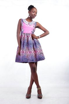 MAKSI - LACE COLLAR'D DRESS. to order email info@maksiclothing.com or call +233 24 2370 212