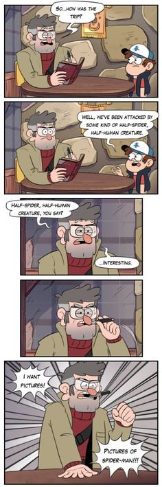 Gravity Falls Meets Spider-Man<< END ME NOW THIS IS THE GREATEST THING