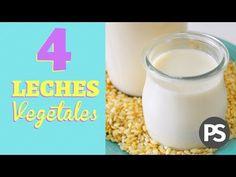 4 Leches Vegetales | EXTRA CALCIO | Qué son + por qué la uso siempre - YouTube Cocina Natural, Creative Food, Stevia, Glass Of Milk, Yummy Food, Healthy Recipes, Make It Yourself, Facebook, Ideas Para