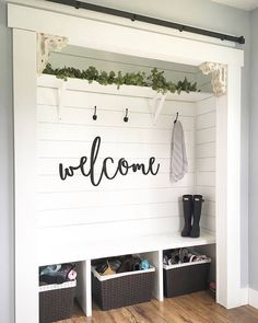 Welcome wood words wood word cut out laser cut wedding gift wooden wall art home decor wall decor entryway decor porch decor Mudroom Ideas Art Cut Decor Entryway Gift Home Laser Porch Wall Wedding Wood Wooden word words Decor, Home Projects, Interior, Home Remodeling, Porch Decorating, Entryway Closet, New Homes, Home Decor, Room Remodeling