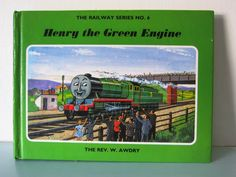Thomas the tank engine, Henry the green engine, Vintage thomas book, Thomas book, children's book, English, Steam train, collectible book by thevintagemagpie01 on Etsy Star Wars Jokes, Thomas The Tank, The Rev, Magpie, Book Collection, Cottage Chic, Vintage Books, I Am Happy, Childrens Books