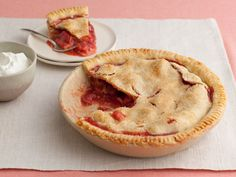 Get this all-star, easy-to-follow Grandma's Strawberry-Rhubarb Pie recipe from Food Network Challenge